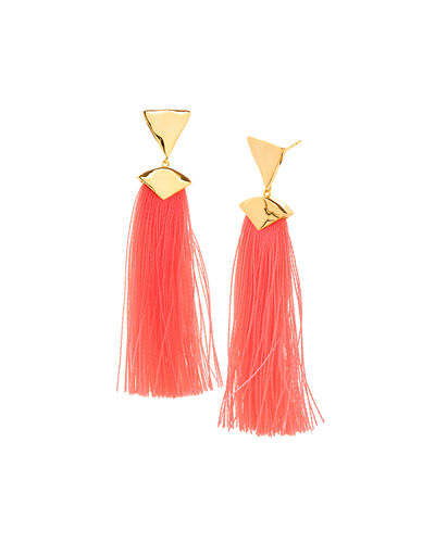 Havana Triangle Tassel Earrings