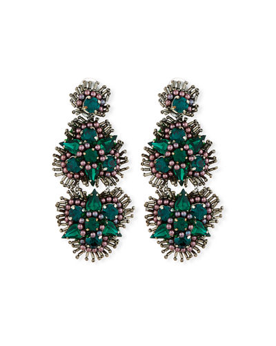 Anastasia Crystal Clip-On Earrings