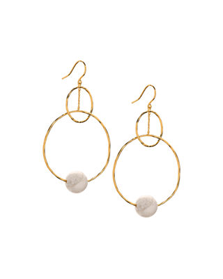 Gorjana Interlocking Hoop Drop Earrings tNc4SaR
