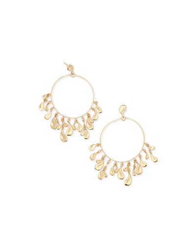 Natasha Dangle Hoop Earrings