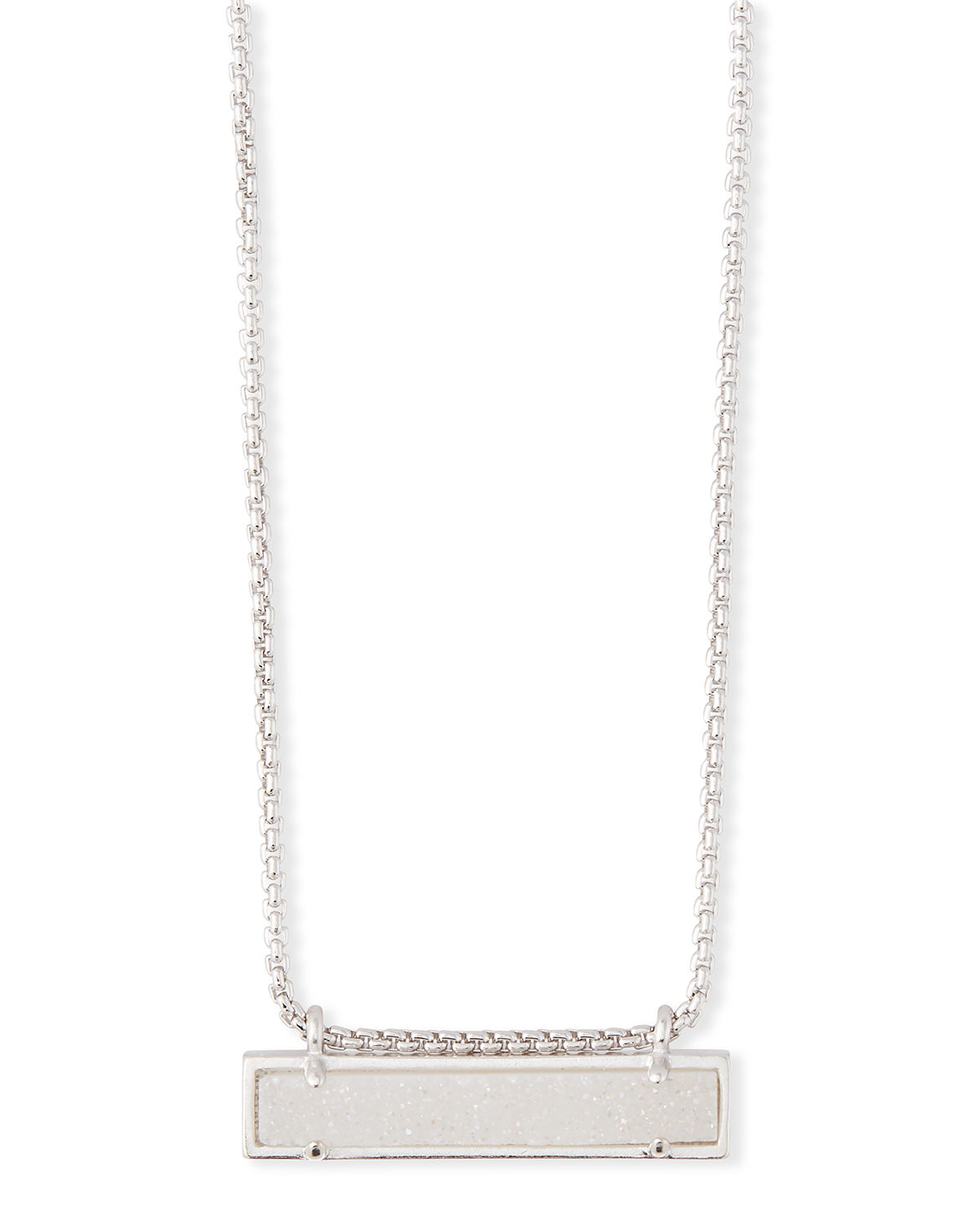 Leanor Pendant Necklace in Rhodium