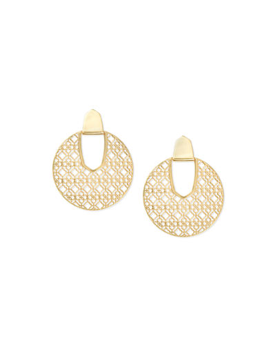 Diane Door Knocker Earrings w/ Filigree