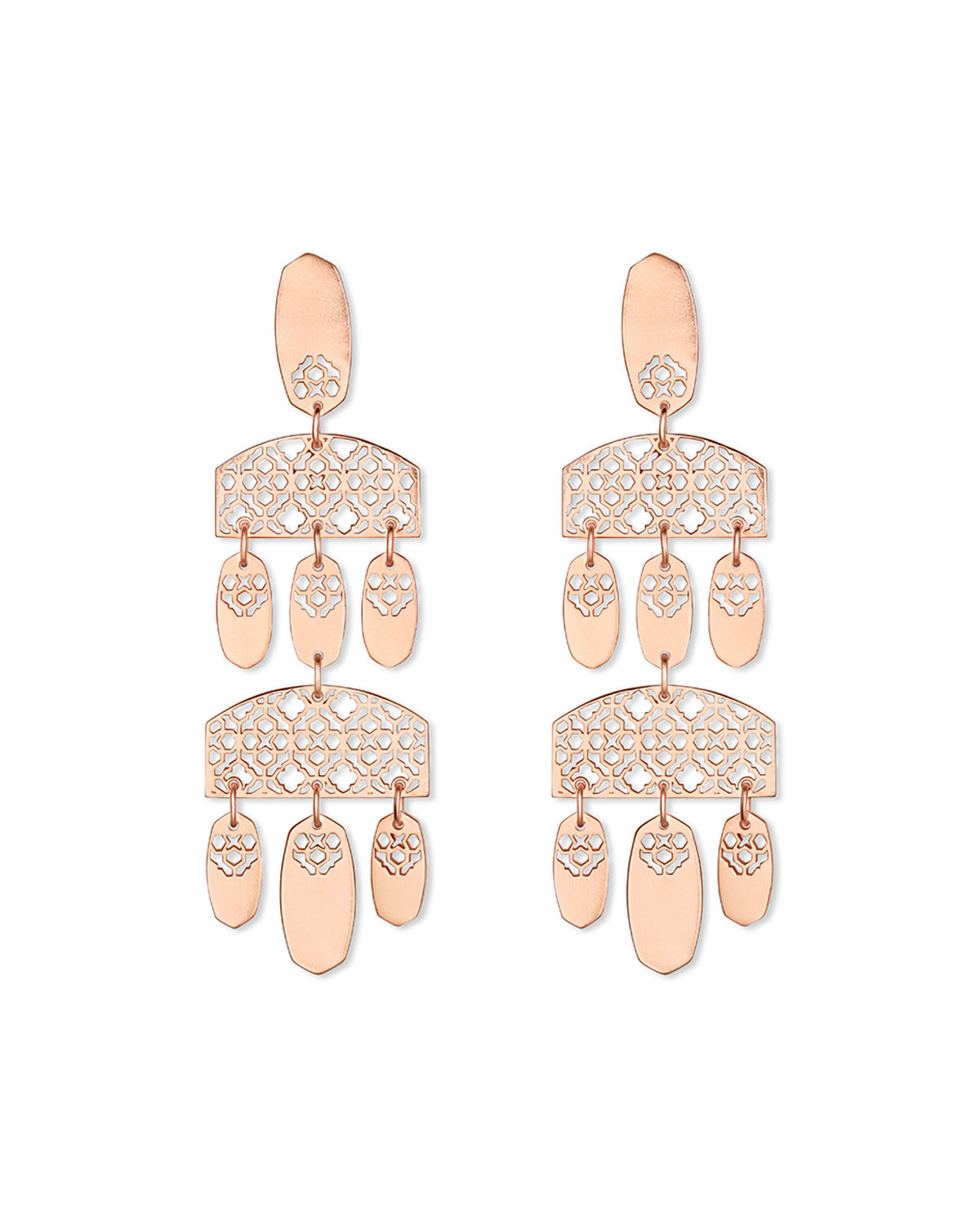 Emmett Filigree Chandelier Dangle Earrings
