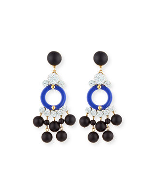 Lele Sadoughi Boulevard Beaded Statement Earrings