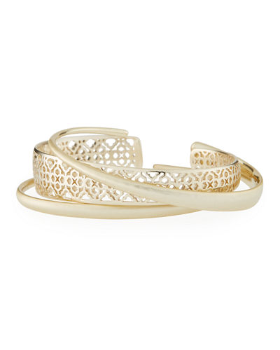 Kendra Scott Tiana Pinch Filigree Stack Bracelets, Set of 3