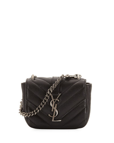 Saint Laurent College Mini Matelassé Bag