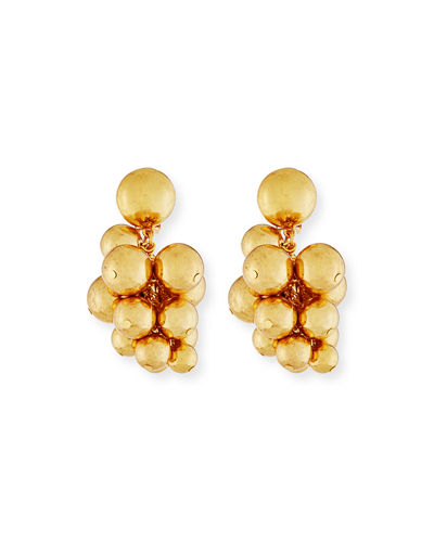 Bold Beaded Cluster Clip-On Earrings