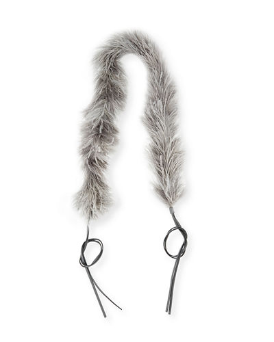 Marabou Feather Charm Strap