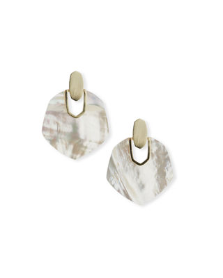 Kendra Scott Amaranth Pearly Drop Earrings