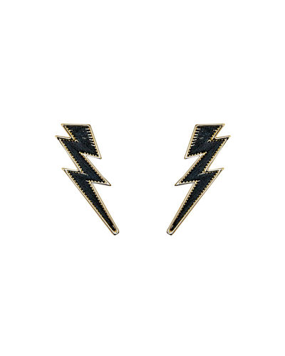 Lightning Bolt Thread Earrings