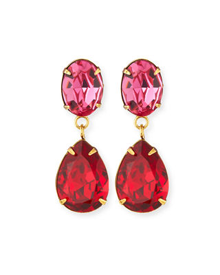 Jennifer Behr Gemma Crystal Drop Earrings