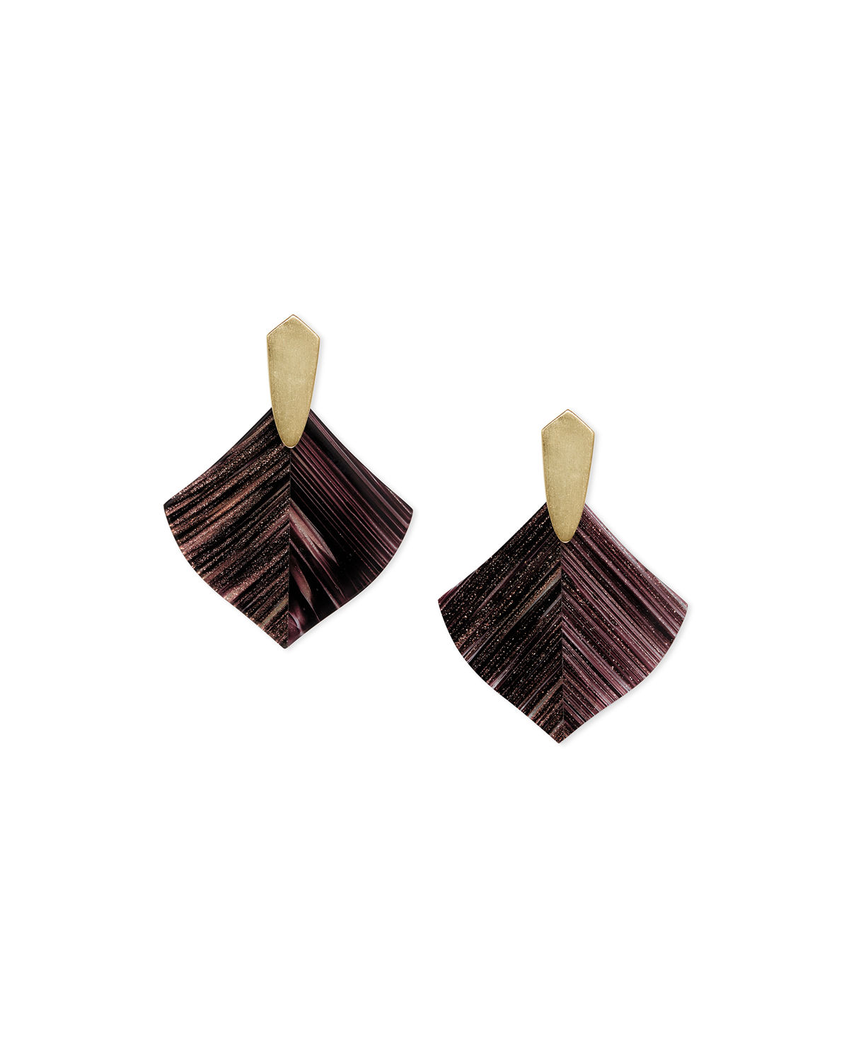 Astoria Earrings w/ Dusted Glass