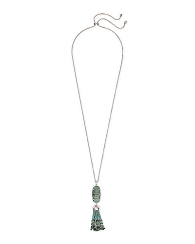 Eva Adjustable Tassel Pendant Necklace, 32""