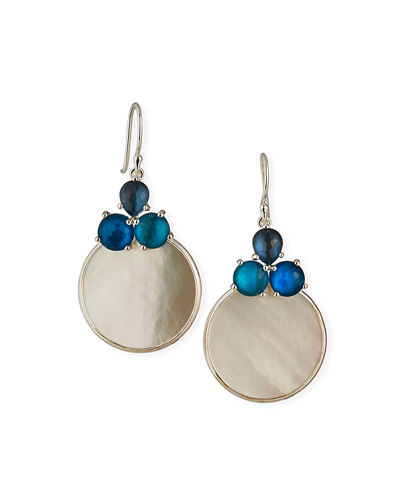 Ippolita Wonderland Overlap 3-Stone Earrings in Moroccan Dust