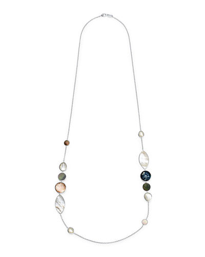 Wonderland Mixed-Stone Necklace in Moroccan Dust