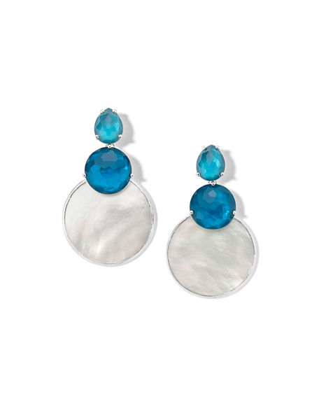 Ippolita Wonderland Overlap Snowman Earrings in Moroccan Dust