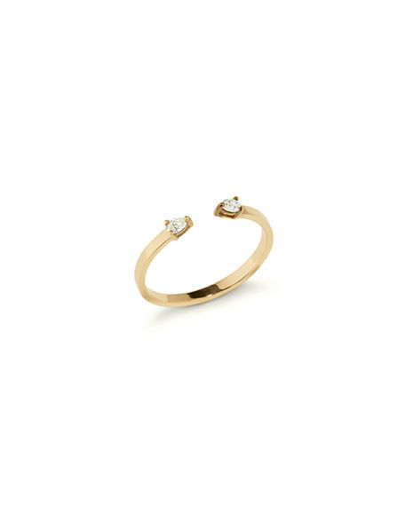 Lana ECHO 14K GOLD OPEN DIAMOND PEAR RING