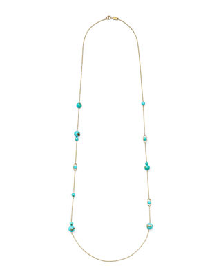 Ippolita 18k Gold Nova 10-Station Necklace, 36
