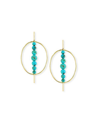 Ippolita 18k Nova Hinge Oval Earrings