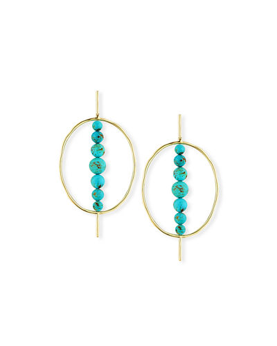 18k Nova Hinge Oval Earrings