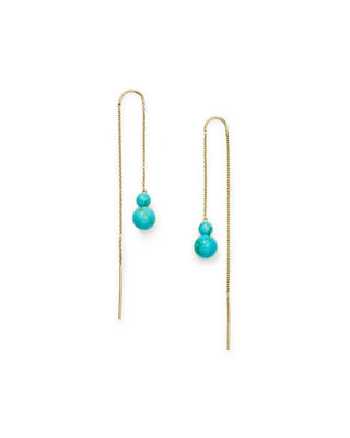 Ippolita 18k Nova Two-Stone Drop Thread Earrings
