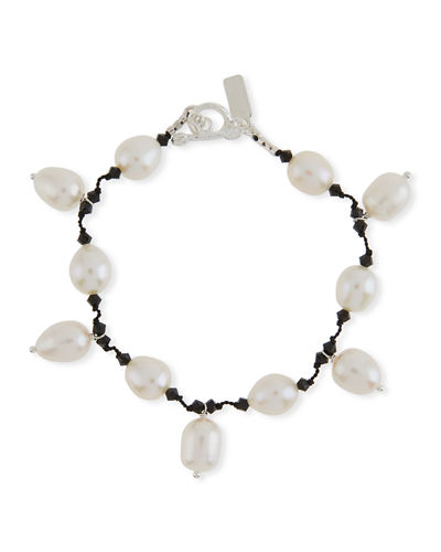 Margo Morrison Multi-Pearl Dangle Bracelet