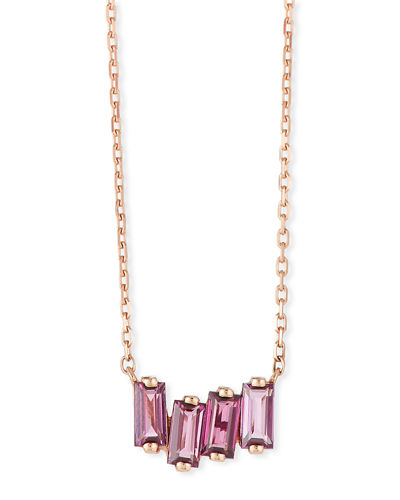 14k Rose Gold Rose de France Amethyst Fireworks Necklace