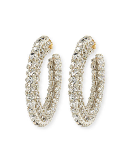 Sachin & Babi CRYSTAL HOOP EARRINGS
