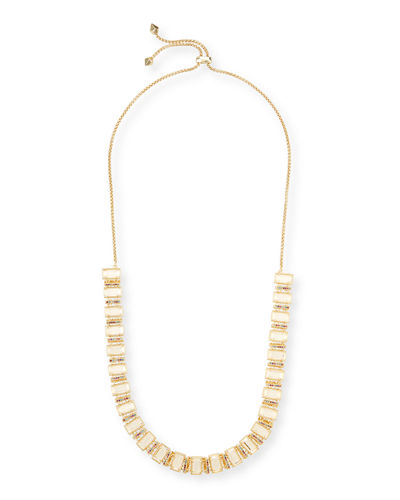 Gus Adjustable Oblong-Link Necklace