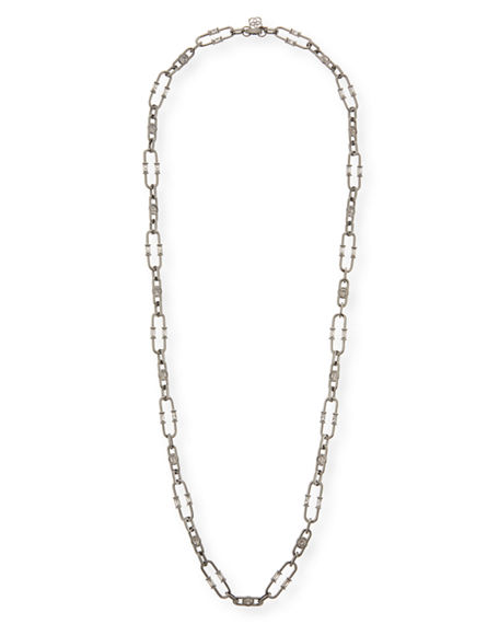 Kendra Scott GAGE CRYSTAL OVAL LINK NECKLACE, 36""