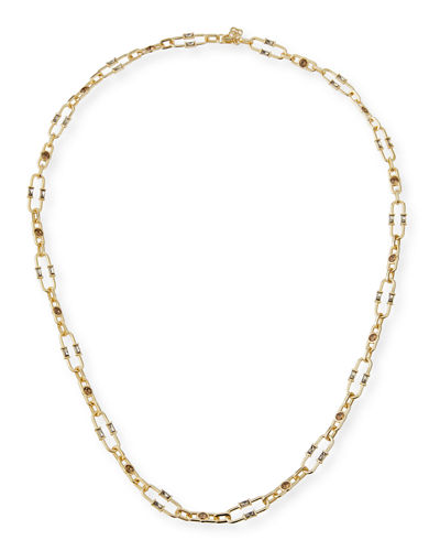 Gage Crystal Oval Link Necklace, 36