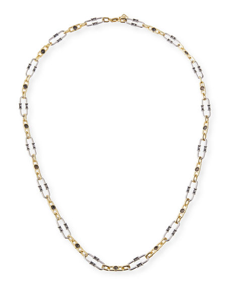 Image 1 of 4: Kendra Scott Gage Crystal Oval Link Necklace, 31""