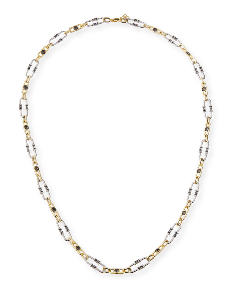 Kendra Scott Gage Crystal Oval Link Necklace, 31""