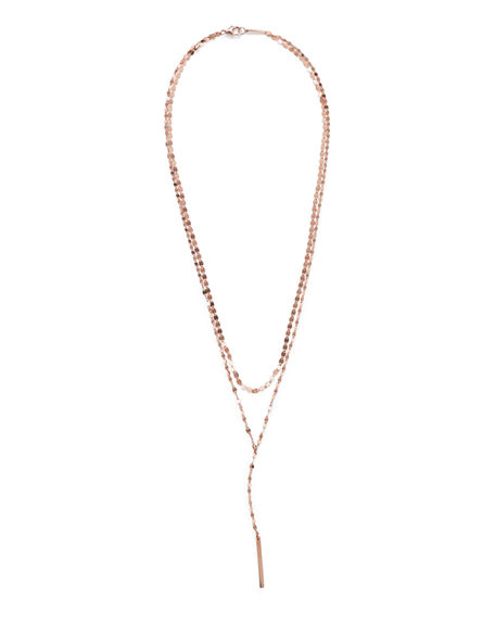 Lana 14K GOLD NUDE BLAKE LAYERED LARIAT NECKLACE