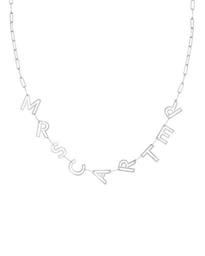 14k Gold Chain Letter Necklace, 9 Letters