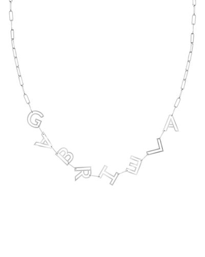 14k Gold Chain Letter Necklace, 8 Letters