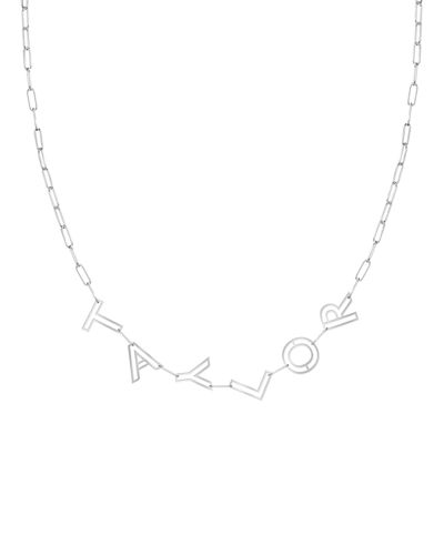 14k Gold Chain Letter Necklace, 6 Letters