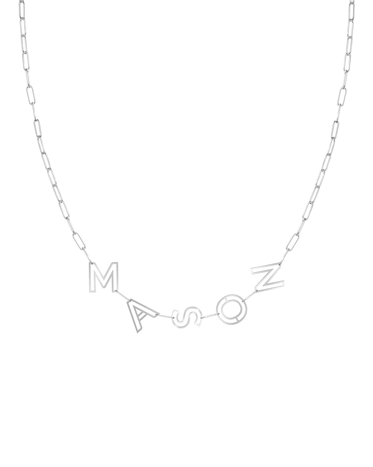 14k Gold Chain Letter Necklace