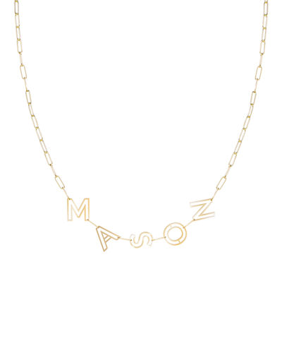 14k Gold Chain Letter Necklace, 5 Letters