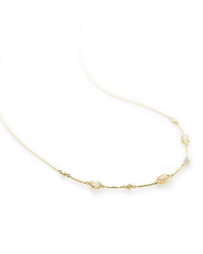 Kendra Scott Alina 14k Gold & Stone Collar Necklace