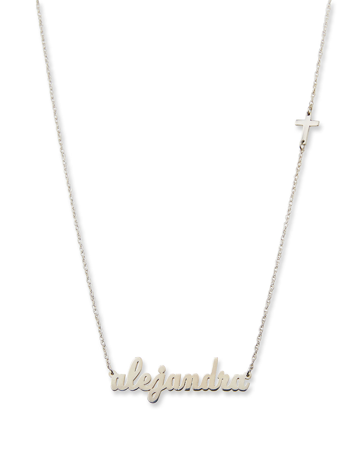 Abigail Personalized Cross Necklace