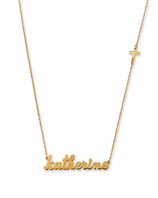 Jennifer Zeuner Abigail Personalized Cross Necklace