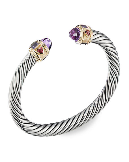 David Yurman 7MM RENAISSANCE BRACELET W/ 14K GOLD & STONES