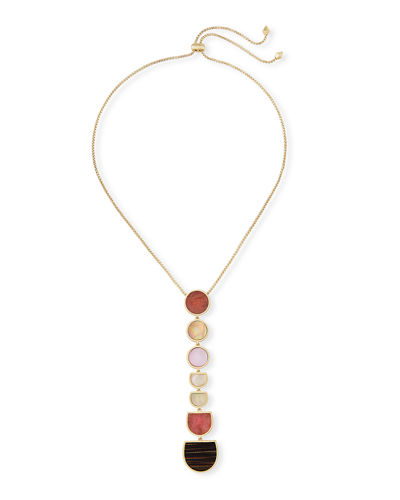 Taniesja Linear Stone Drop Necklace