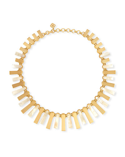 Chet Pearlescent Statement Necklace