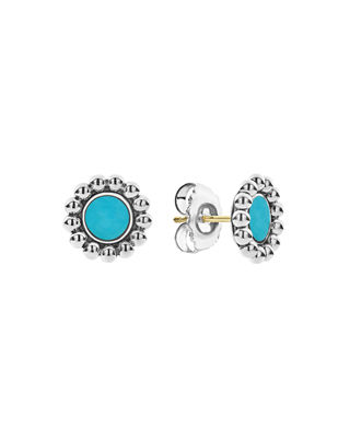 stone earrings floral stone earrings Round earrings with turquoise natural stones large stone earrings