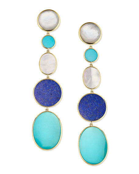 Image 1 of 2: Ippolita 18K Polished Rock Candy Long Linear Earrings