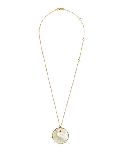 Ippolita 18K Nova Large Disc Pendant Necklace in Mother-of-Pearl or Lapis