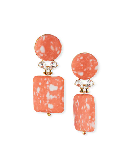 Lele Sadoughi STONE STARLET DROP EARRINGS