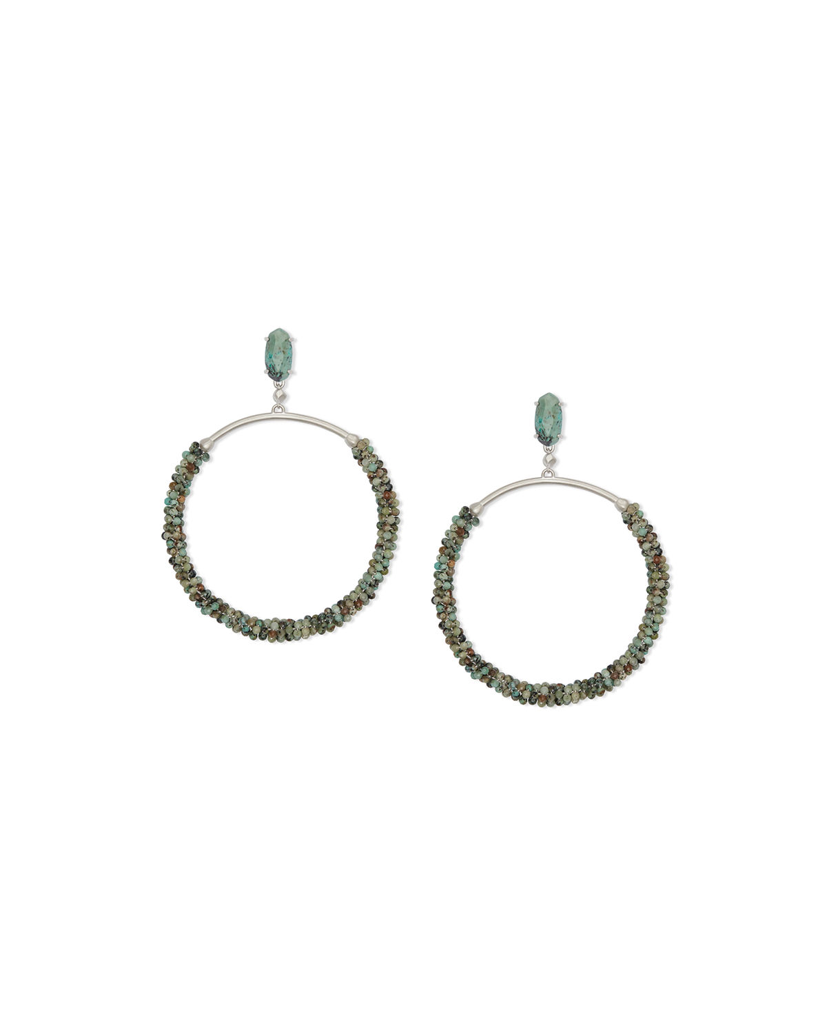 Russel Hoop Drop Earrings